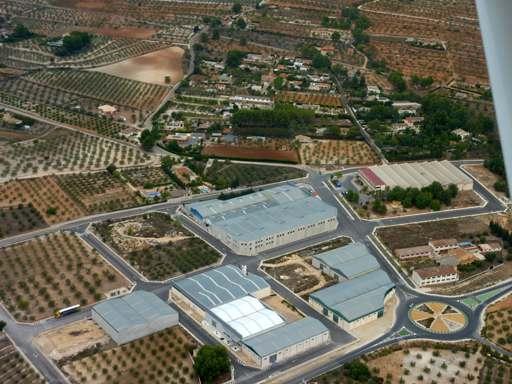 Foto aérea de las instalaciones de Muro papel