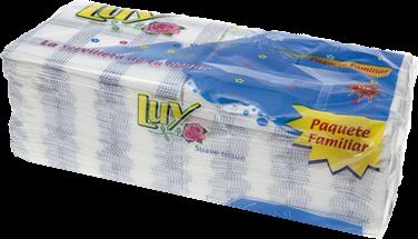 Servilletas de papel en formato Familiar producto fabricado por Muropapel en formatos de 40 x 40, 33 x 33 y 30 x 40. Vienen en cajas de 36, 27 y 48 paquetes de 50 servicios.