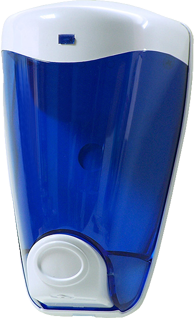dispensador de jabon de pared azul