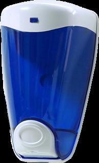 dispensador de jabon de pared azul