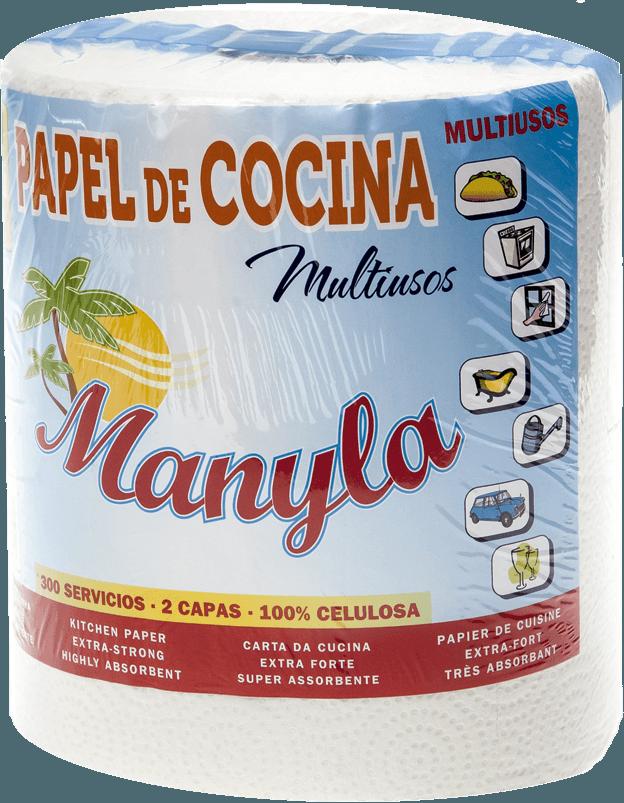 papel de cocina super absorbente Manyla