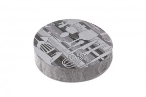 Tapa envases aluminio ovalado paquete
