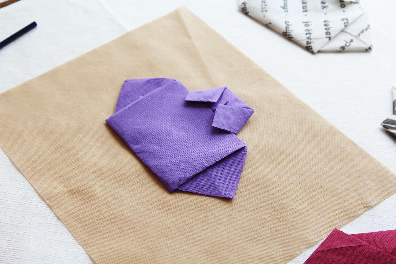 Doblar servilletas de papel Paso 6-2