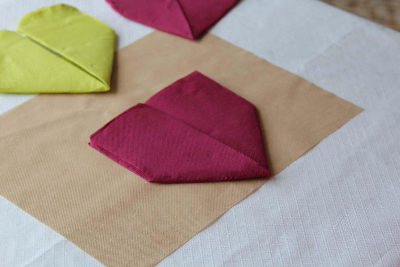 Cómo hacer Corazones de papel con servilletas para San Valentín
