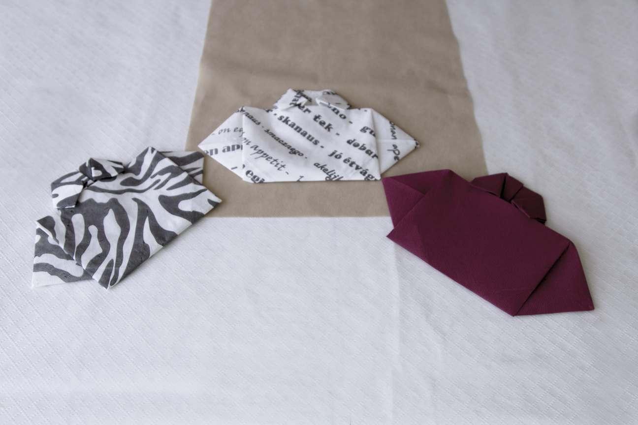 Manualidades con servilletas de papel camisas de papel
