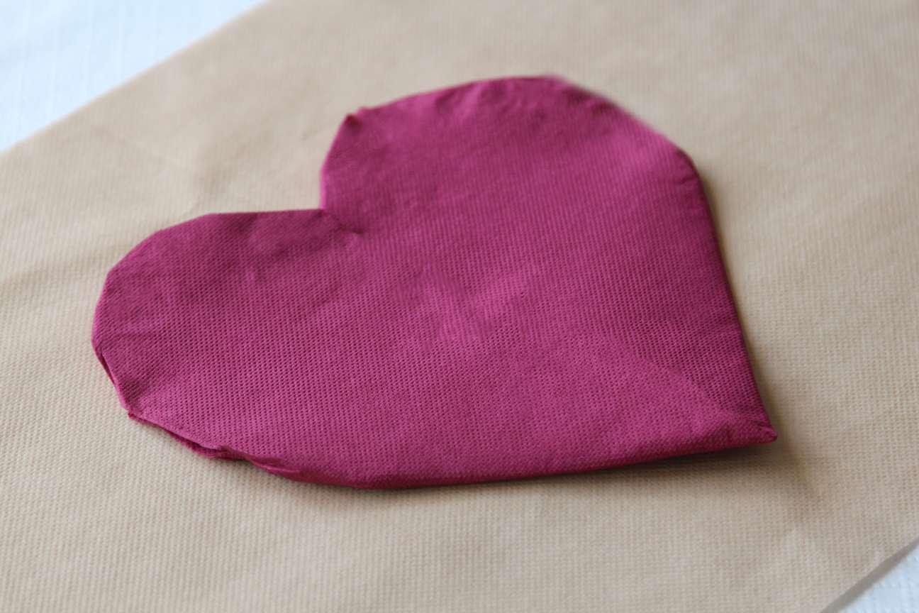 corazon de servilletas de papel