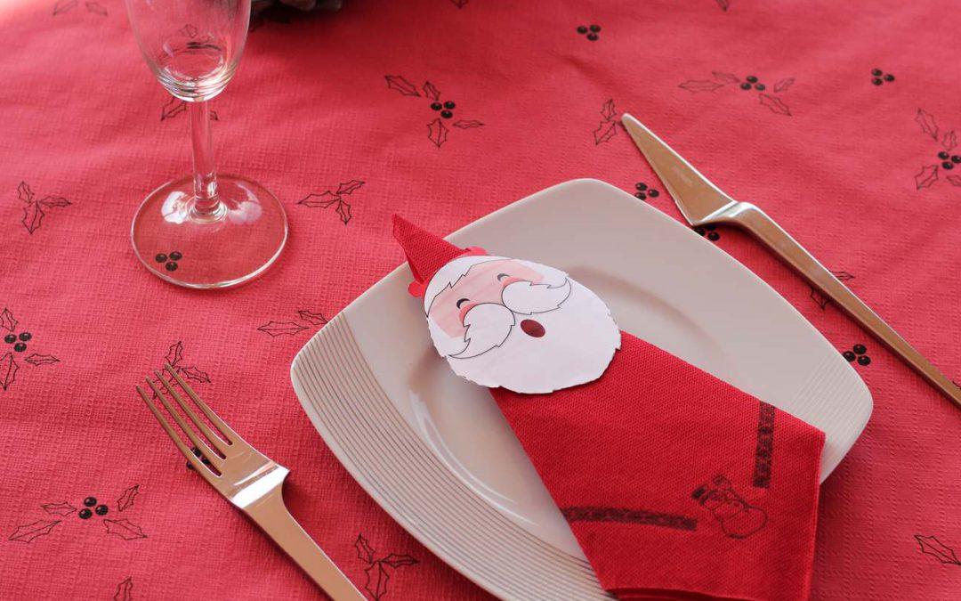 Como doblar servilletas de papel para Navidad