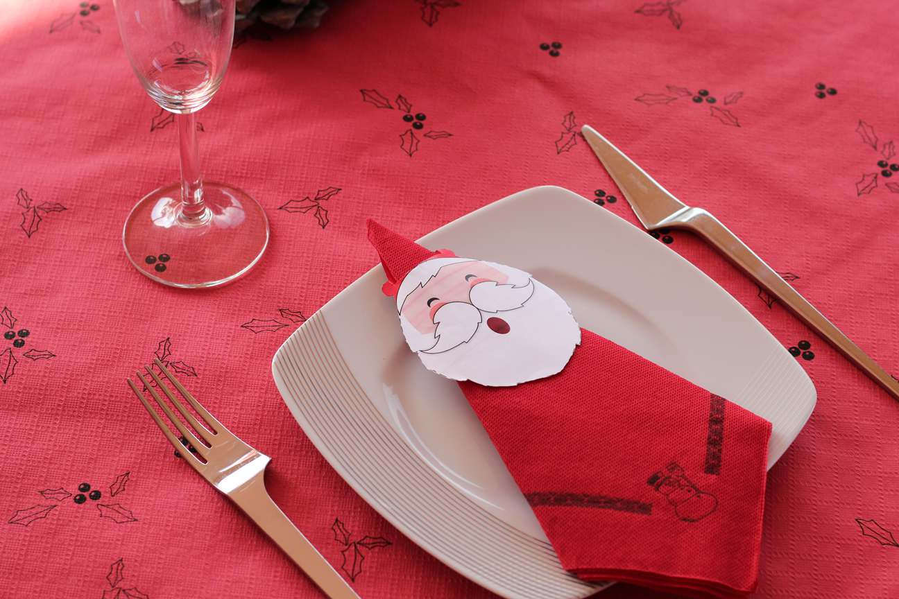 Como doblar servilletas de papel para Navidad - Manualidades Muropapel
