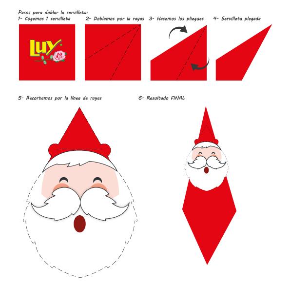 Recortable para manualidad de Navidad