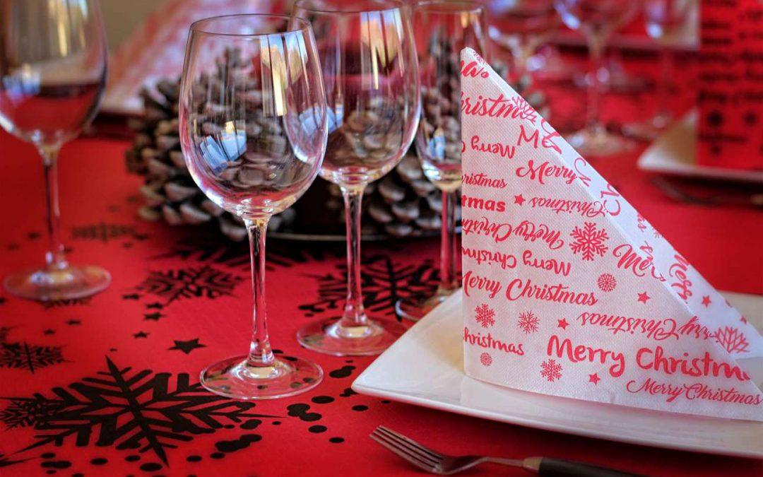 Como decorar tu mesa en Navidad con Manteles de papel