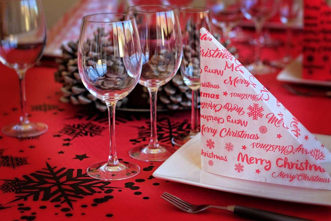 Servilletas navide as servilletas para navidad decora - Adornos para la mesa de navidad ...