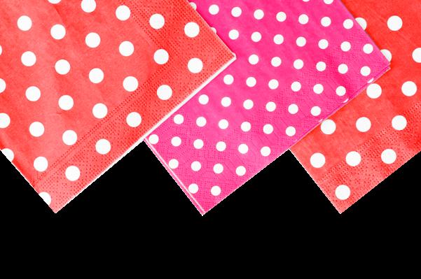 Diseno de mesas primavera 2017 manteles de decorados diseno circulos y trazos rojo