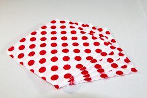 Abanico de servilletas de Lunares Rojos