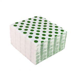 Servilletas de lunares verdes